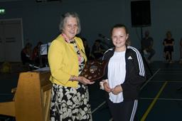 Annabelle Maddy shield presentation